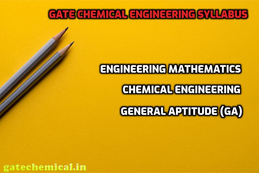 Gate Chemical Engineering syllabus